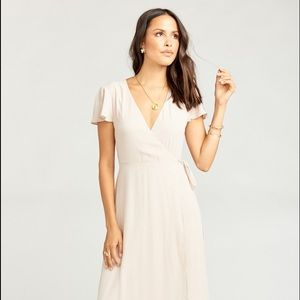 Show Me Your MuMu Dresses - Show Me the Ring Crisp Mumu Wrap Bridesmaid Dress